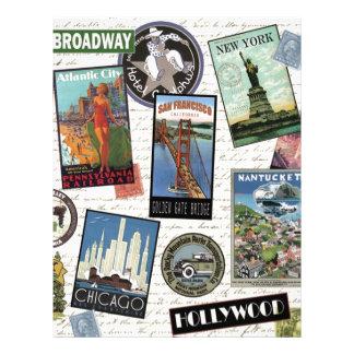 modern vintage travel USA Custom Letterhead