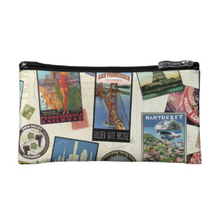 Modern Vintage Travel USA Makeup Bag