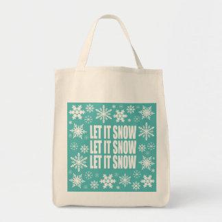modern vintage whimsical snowflakes tote bag