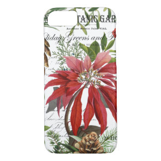 Modern vintage winter garden floral iPhone 8/7 case