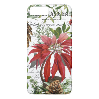 Modern vintage winter garden floral iPhone 8 plus/7 plus case