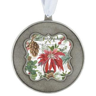 Modern vintage winter garden floral ornament