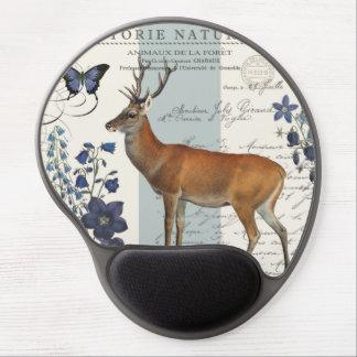 modern vintage woodland deer gel mousepads