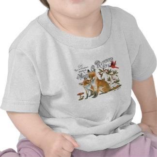 modern vintage woodland fox shirt