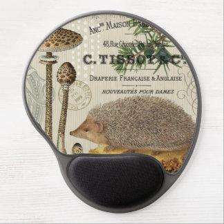 modern vintage woodland hedgehog gel mousepads
