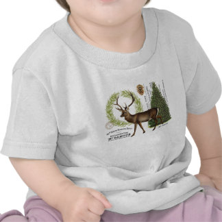 modern vintage woodland winter deer t shirt