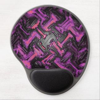 Modern Violet Black Mosaic Metal Floor Abstract Gel Mouse Pad