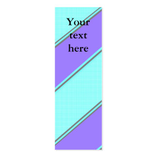Modern violet blue diagonal stripes business card templates