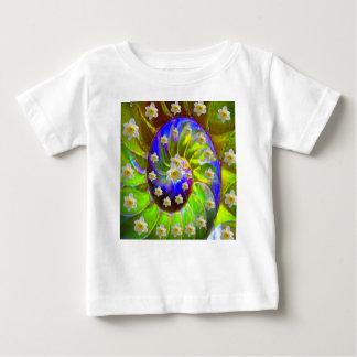 modern VIOLET GREEN GARDEN  SPIRAL &  DAFFODILS Baby T-Shirt