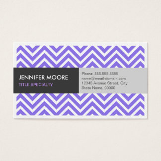 Modern Violet Purple ZigZag Chevron Pattern Business Card