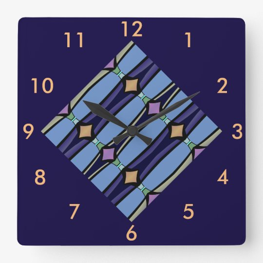 Modern Wall Clock-Decor-Blue/Peach/Purple/Tan Wall Clock