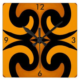 Modern Wall Clock-Home Decor-Gold/Caramel/Black Square Wall Clock