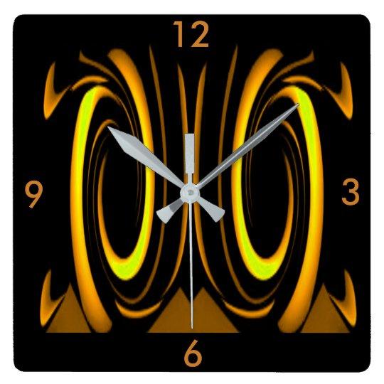 Modern Wall Clock -Home Decor-Gold/Yellow/Black