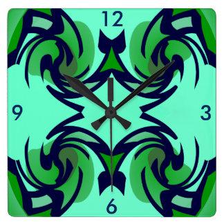 Modern Wall Clock -Home-Navy/Green/Aqua Blue