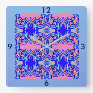 Modern Wall Clock -Home -Pink/Blue/Peach/Tan