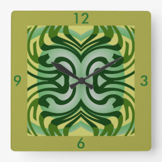 Modern Wall Clock-Home -Yellow/Gold/Green/White Square Wall Clock