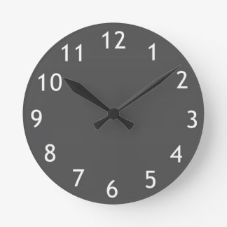 Modern wall clock in grey