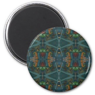 Modern Warmed Toned Masculine Pattern 2 Inch Round Magnet