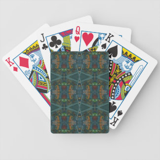 Modern Warmed Toned Masculine Pattern Bicycle Playing Cards