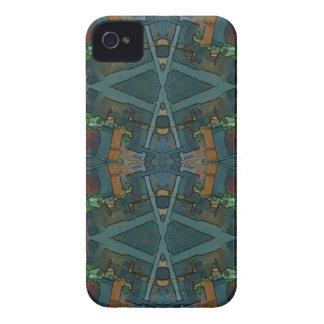 Modern Warmed Toned Masculine Pattern iPhone 4 Case-Mate Case