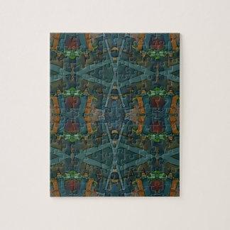 Modern Warmed Toned Masculine Pattern Jigsaw Puzzle