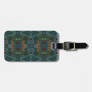 Modern Warmed Toned Masculine Pattern Luggage Tag