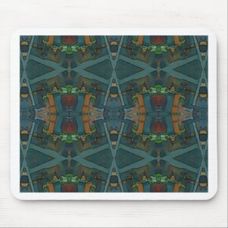 Modern Warmed Toned Masculine Pattern Mouse Pad