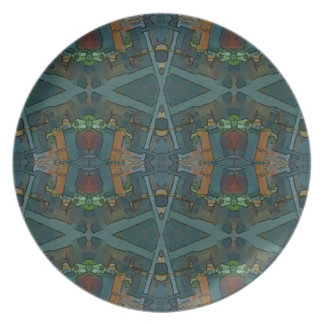 Modern Warmed Toned Masculine Pattern Party Plate