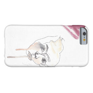 Modern Watercolor Blind Contour iPhone case