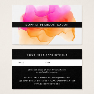 Modern Watercolor Blot | Appointment Card