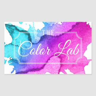 Modern Watercolor Hair Salon Hair Stylist Sticker