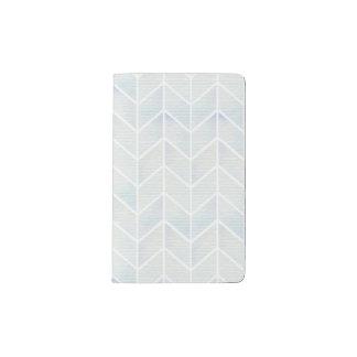 Modern watercolor pastel mint chevron pattern pocket moleskine notebook