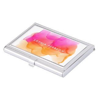 Modern Watercolor | Personalized Business Card Holder