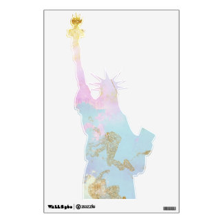 Modern watercolor Statue of Liberty Wall Decal