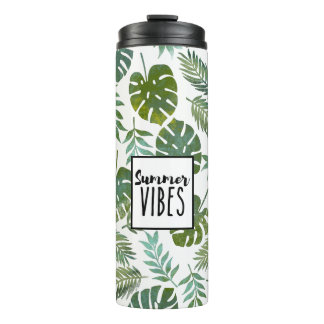 Modern watercolor summer vibes thermal tumbler