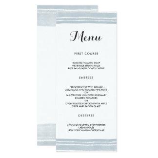 Modern Watercolor Wedding Menu Card
