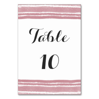 Modern Watercolor Wedding Table Number Card