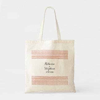 Modern Watercolor Wedding Tote Bag