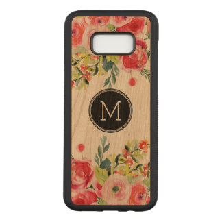 Modern Watercolors Colorful Flowers Bouquet Carved Samsung Galaxy S8+ Case