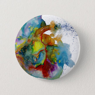 Modern Watercolour Anatomical Heart 2 Inch Round Button