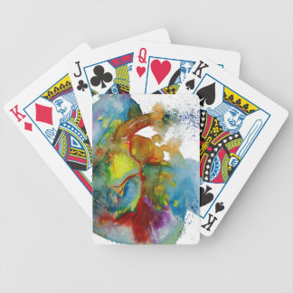 Modern Watercolour Anatomical Heart Bicycle Playing Cards