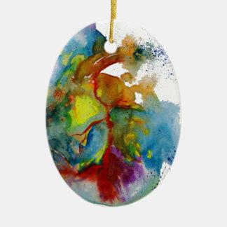 Modern Watercolour Anatomical Heart Ceramic Ornament