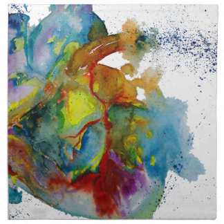 Modern Watercolour Anatomical Heart Napkin