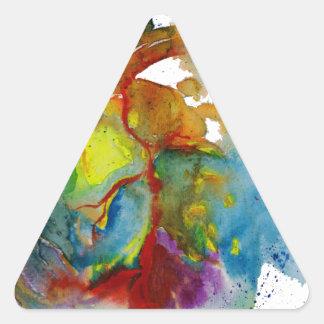 Modern Watercolour Anatomical Heart Triangle Sticker