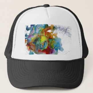 Modern Watercolour Anatomical Heart Trucker Hat