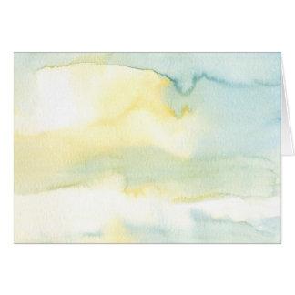 Modern Watercolour Painting Art Greetings Card