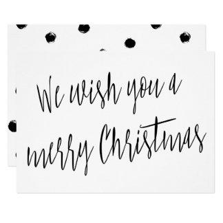 "Modern ""We wish you a merry Christmas"" Card"