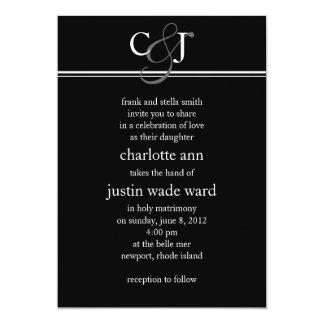 """modern; wedding 5"""" x 7"""" invitation card"""