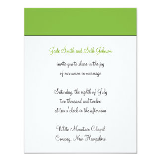modern wedding card