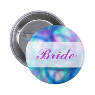 Modern Wedding. Colorful Abstract. Bride Pins